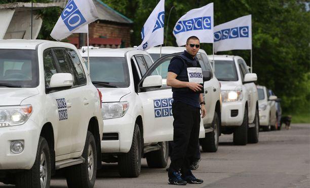 Etyj-tarkkalijoita Itä-Ukrainassa. Kuvituskuva.