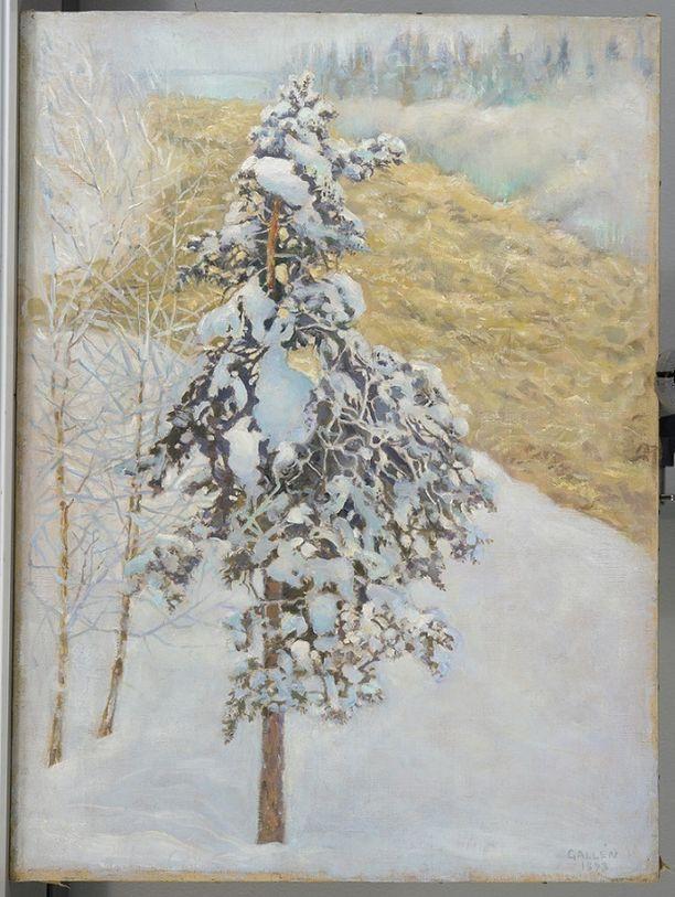 """Kuvassa taideväärennös """"Akseli Gallen-Kallelan Imatrankoski""""."""