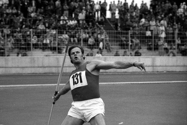 Janis Lusis  Münchenin olympialaissa vuonna 1972.