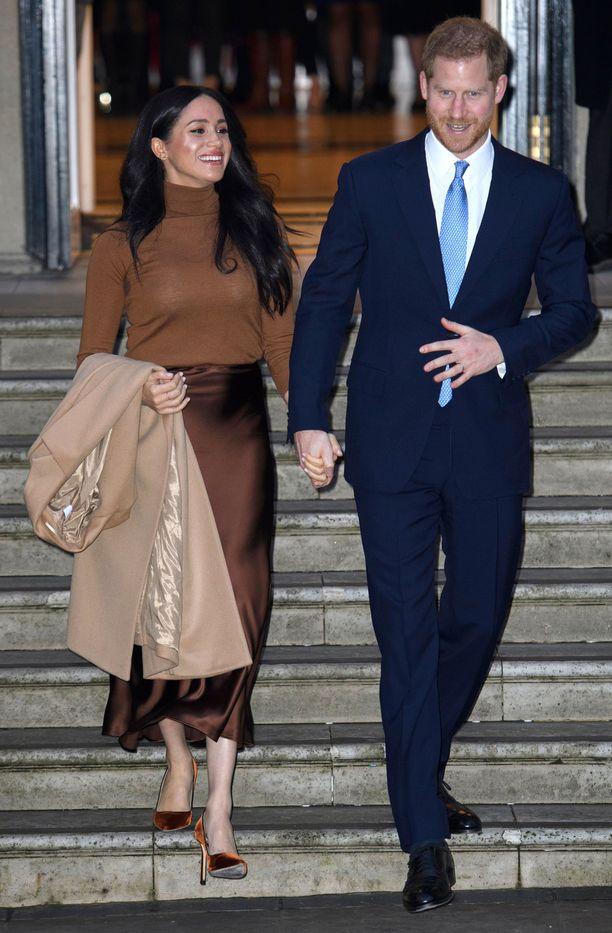 Meghan ja Harry edustivat yhdessä tammikuussa Lontoossa. Sittemmin heistä ei ole napattu kuvia julkisissa edustustilaisuuksissa.
