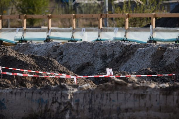 Pommin löytöpaikka Heidestrassella on eristetty.