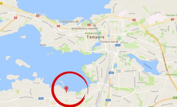 Poliisi tavoitti miehen Härmälänsaarenkadulta.