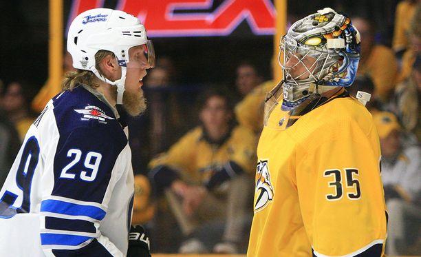 Patrik Laine ja Pekka Rinne kohtaavat jälleen ensi yönä.