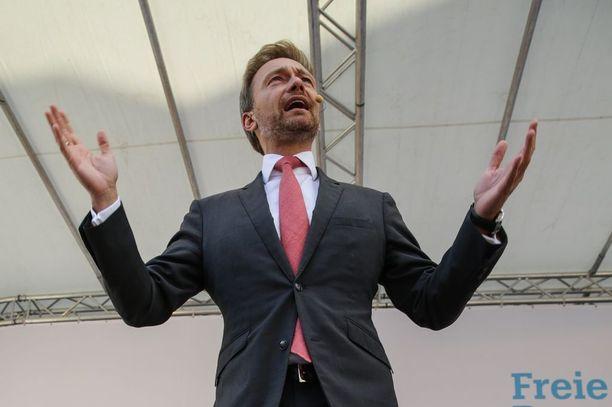 FDP:n puheenjohtaja Christian Lindner haluaa valtiovarainministerin salkun puolueelleen.