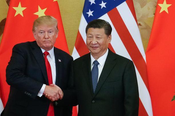 Yhdysvaltain presidentti Donald Trump tapaa Kiinan presidenttiä Xi Jinpingiä Pekingissä osana Aasian-vierailukierrostaan.