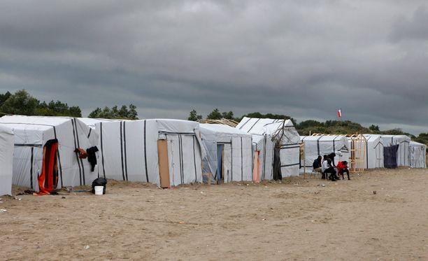 Siirtolaiskriisi on kärjistynyt pahasti kesän aikana Ranskan Calais'ssa. Kuva Calais'in pakolaisleiriltä.