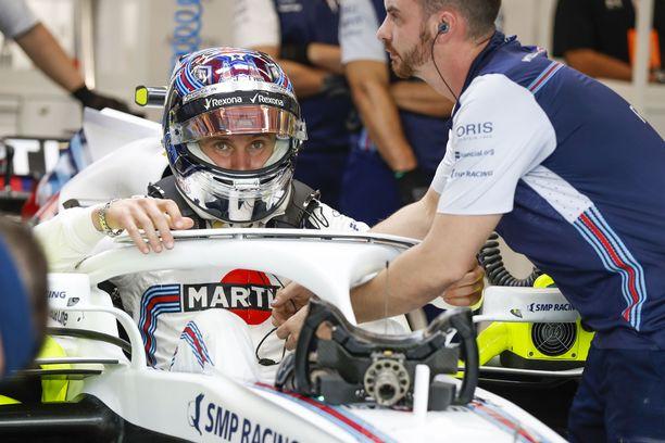 Sergei Sirotkin ei aja ensi kaudella formula ykkösissä.