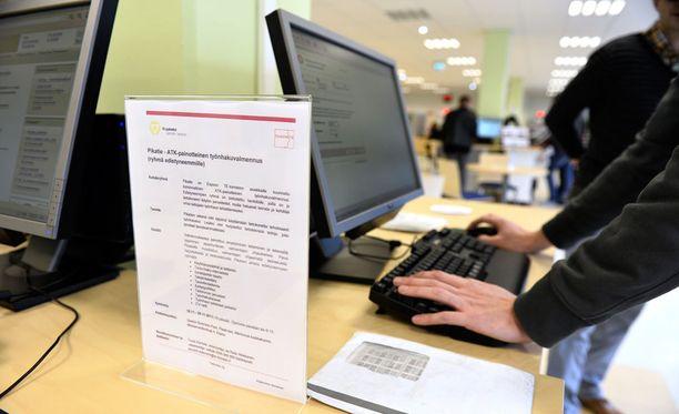 Työttömyysaste oli kesäkuussa 9,3 prosenttia. Kuvituskuva.