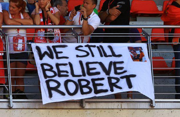 Robert Kubican fanit muistivat miestä vielä Barcelonan gp:ssäkin.