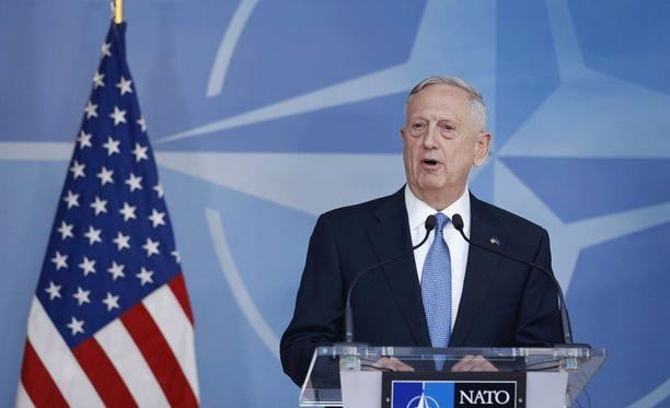 James Mattis on Brysselissä vierailemassa Naton huippukokouksessa.