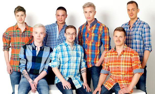 Joku näistä seitsemästä kandidaatista on Mr Gay Finland vuosimallia 2013.
