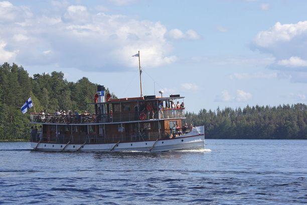 S/S Punkaharju on yksi yhä liikenteessä olevista sisävesien höyrylaivoista.