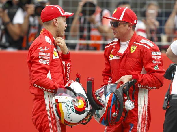 Sebastian Vettel ja Kimi Räikkönen ajavat sunnuntaina viimeisen kerran tallitovereina Ferrarilla.