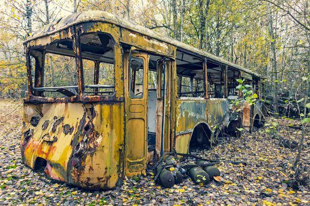 Tämä bussi on päätepysäkillään.