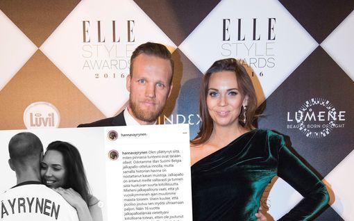 Bloggaaja Hanna Väyrynen julkaisi tunteikkaan kuvan – kertoo, millaista elämä jalkapalloilijan puolisona on