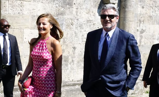 Myös Ferrarin tallipäällikkö Maurizio Arrivabene nähtiin juhlissa yhdessä vaimonsa vaimonsa Stefania Bocchin kanssa.
