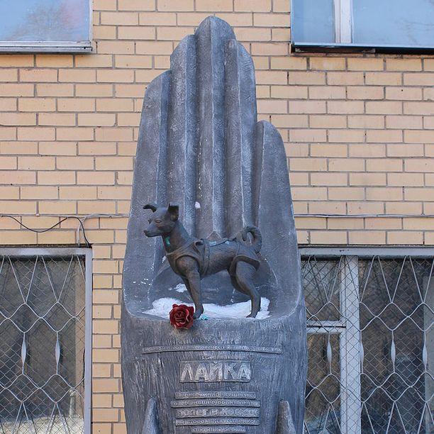 Laikan muistomerkki sijaitsee Moskovassa tiedekeskuksen puistossa.