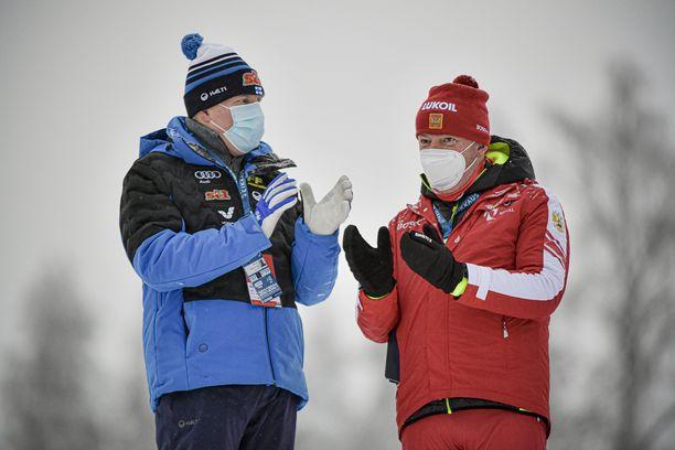 Markus Cramer (oikealla) on iloinen, että Suomessa pääsee harjoittelemaan ja kisaamaan.