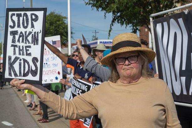 Detroitissa osoitettiin viime viikolla mieltä lasten erottelupolitiikkaa vastaan.