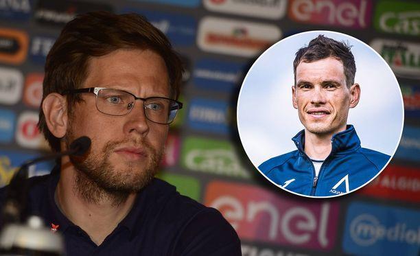 Suomalainen Kjell Carlström (vasemmalla) oppi tuntemaan Stefan Deniflin IAM Cycling -tallin aikoina.