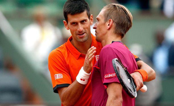 Novak Djokovic ja Jarkko Nieminen kohtasivat jo Ranskan avoimissa.