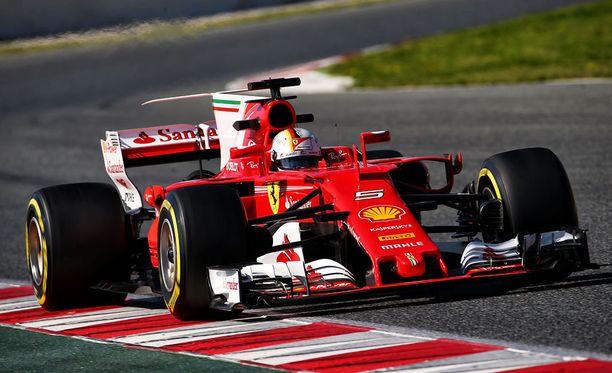 Sebastian Vettel on saanut SF70-H:n säädöt kohdalleen.