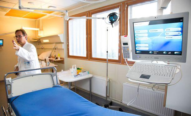 Meilahden kolmiosairaalassa on otettu huomioon erityisesti tartuntavaaralliset potilaat. Tilaa on kahdelle potilaalle.