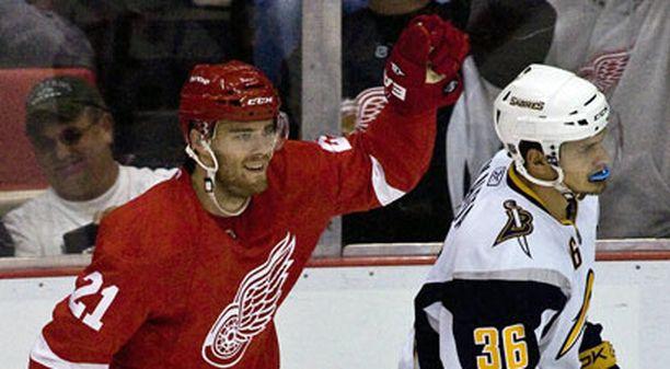 Ville Leino iski maalin Detroitin viimeisessä harjoituspelissä.