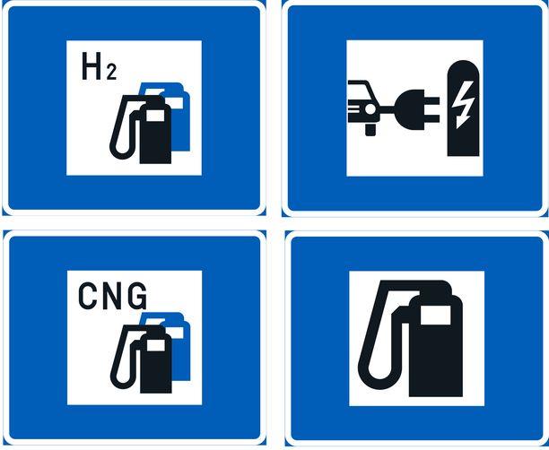 Polttoaineenjakelu -merkit.