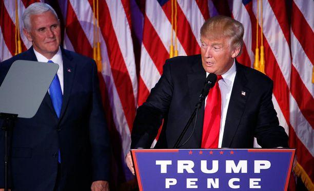 Donald Trump piti voitonpuheen vaalituloksen selvittyä keskiviikkona.