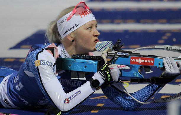 Kaisa Mäkäräinen pelkää seuransa konkurssia.