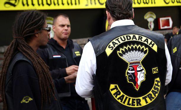 Satudarah MC on väkivaltainen motoristijengi, joka on lähtöisin Alankomaista. Arkistokuvassa hollantilaisia kerholaisia Saksan Duisburgissa.