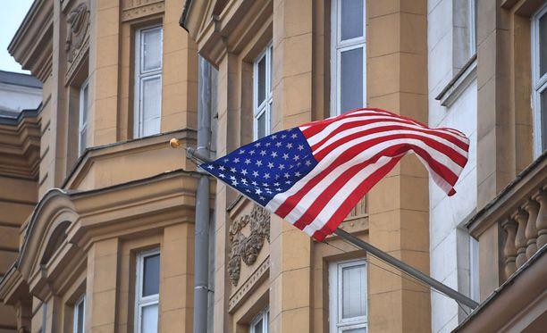 Putin päätti, ettei Venäjä karkota 35:tä amerikkalaisdiplomaattia Venäjältä. Kuvassa Yhdysvaltojen suurlähestystö Moskovassa.