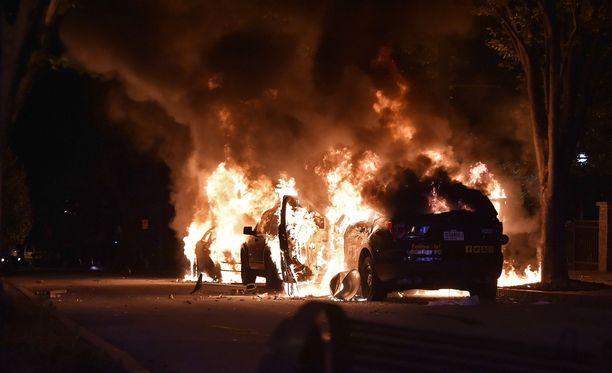 Mielenosoitukset USA:ssa ovat kasvaneet paikoin väkivaltaisiksi. Kuva Georgian kaupungista Atlantasta.