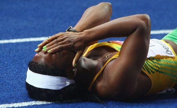 Shelly-Ann Fraser voitti 100 metrin olympiakultaa Pekingissä 2008.