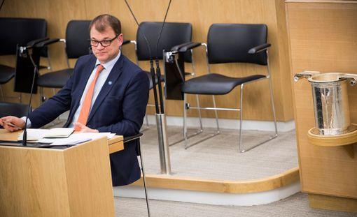 Työnseisaus on osoitettu pääministeri Juha Sipilän (kesk) hallitukselle.