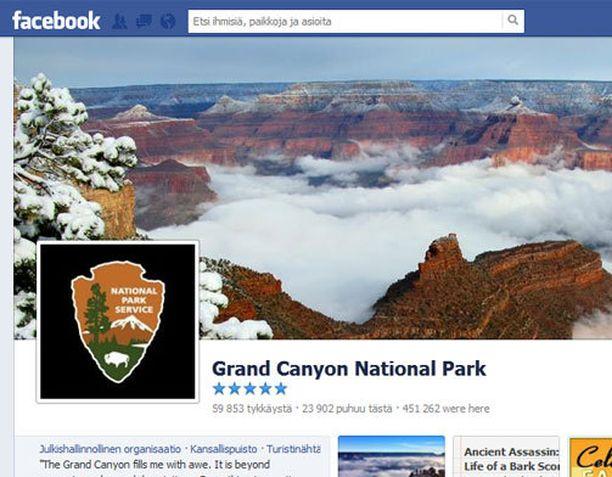 Grand Canyonin kansallispuisto jakoi Facebook-sivuillaan upeita kuvia luonnonilmiöstä.