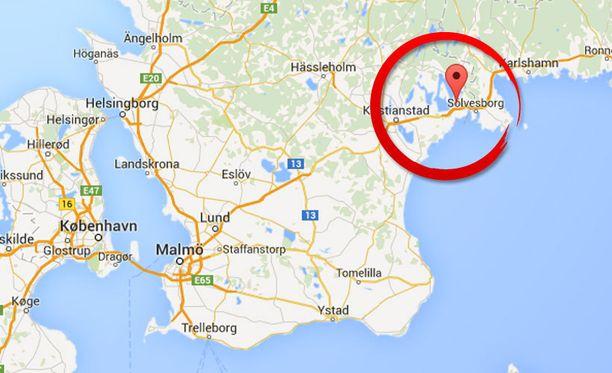 Tapausta tutkitaan Bromöllassa, Skånessa.