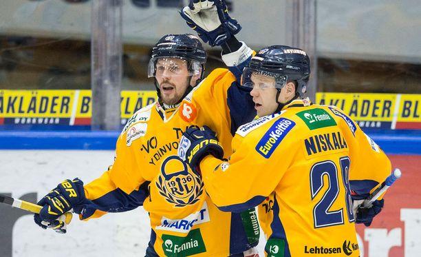 Toni Koivisto ja Janne Niskala ovat Lukon tehokkaimmat pelaajat.