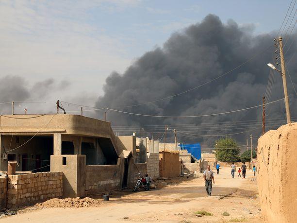 Turkki on tehnyt ilmaiskuja kurdijoukkoja vastaan Syyriassa ensimmäisen kerran 17 kuukauteen. Kuva on vuodelta 2019.