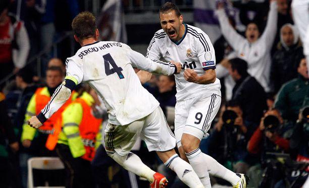 Karim Benzeman ja Sergio Ramosin maalit eivät riittäneet Realin finaalipaikkaan.
