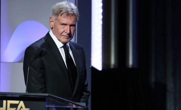 Harrison Ford on tunnettu elokuvien sankarirooleistaan, hänet on nähty muun muassa Indiana Jonesina ja Tähtien sodan Han Solona.