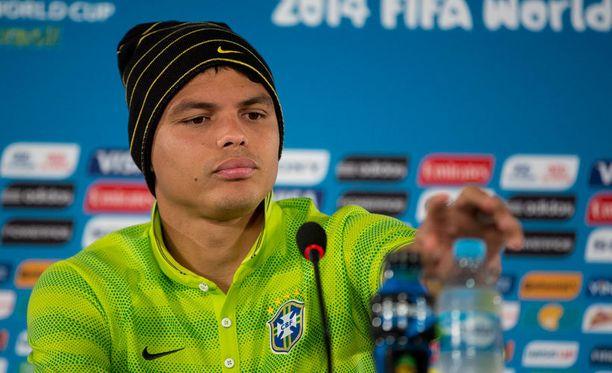 Brasilian kapteeni Thiago Silva oli pettynyt mies pronssiottelun jälkeen.