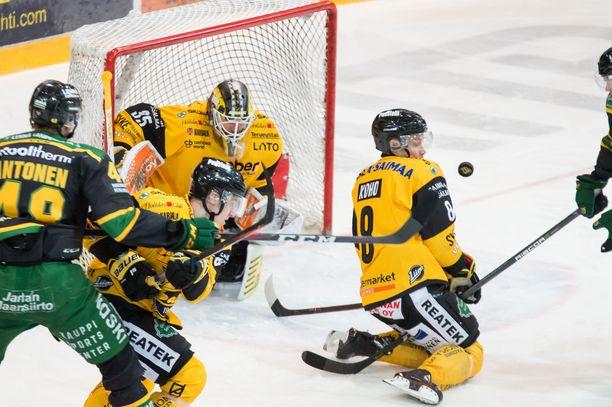 SaiPa puolusti tarkasti Frans Tuohimaan vartioimaa maalia.