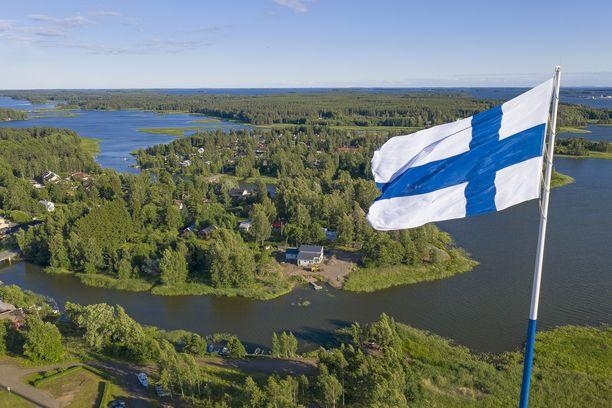 Euroopan korkein lipputanko Haminassa on ollut epäonninen. Arkistokuva.