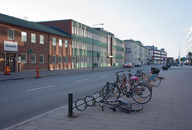 Malmö sijaitsee Skånessa, eteläisessä Ruotsissa. Kuvituskuva.