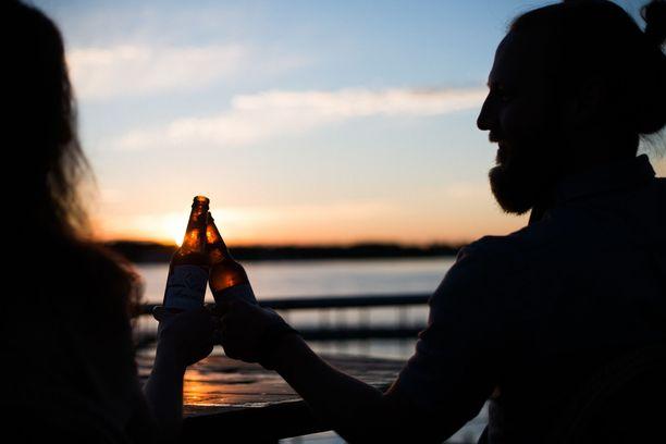 Olut on oiva kesäjuoma. Kuvituskuva.