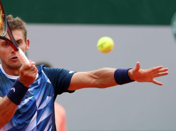 Henri Laaksonen tippui jatkosta Ranskan avointen toisella kierroksella.