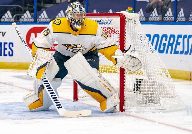 Pekka Rinne on torjunut Nashville Predatorsin maalilla koko NHL-uransa.