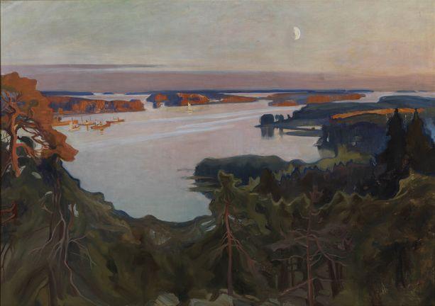 Oulun taidemuseossa nähdään Ateneumin kansallisaarteita, kuten Albert Edelfeltin Näköala Haikon yli.